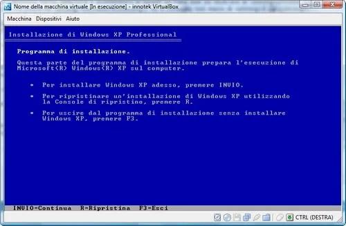 Installazione XP
