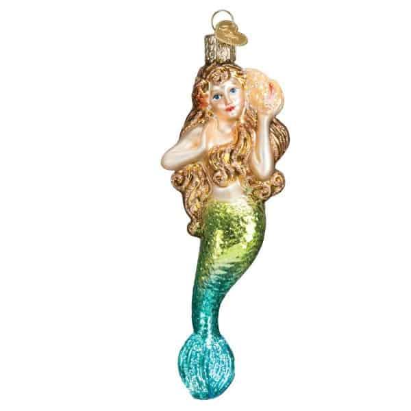mermaid christmas ornament
