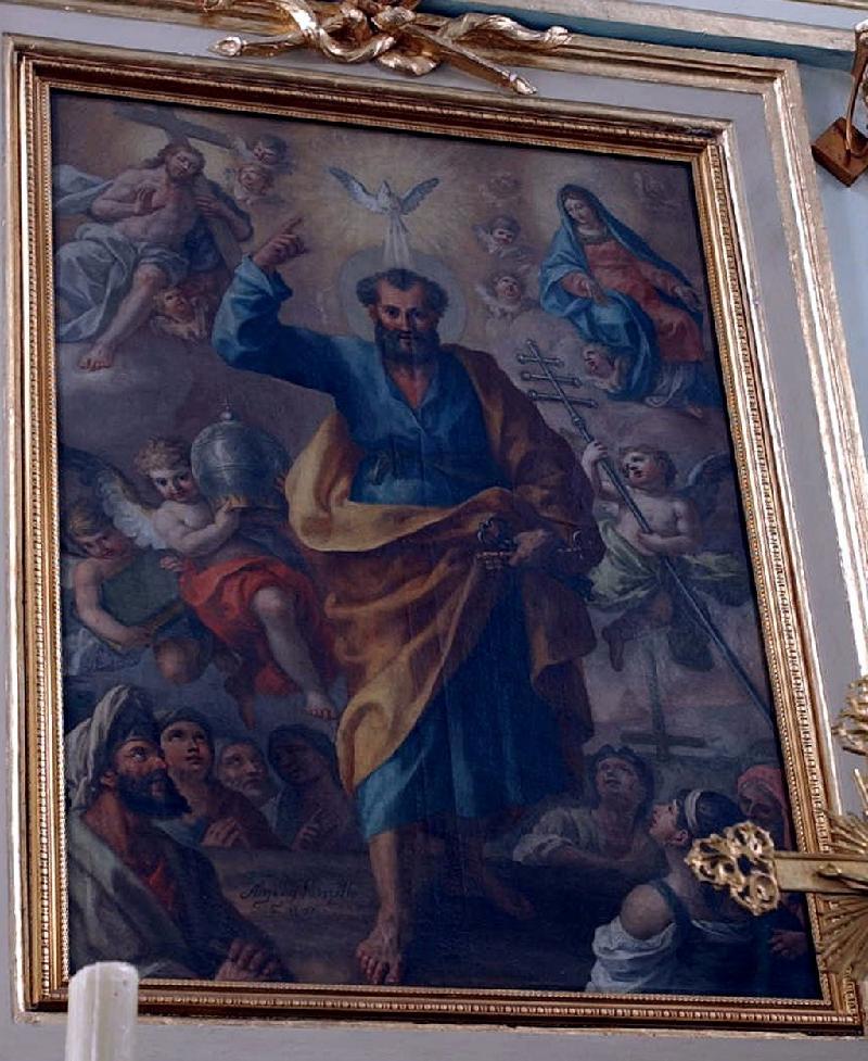 """La """"Gloria di San Pietro"""", l'ultima tela del pittore Angelo Mozzillo"""