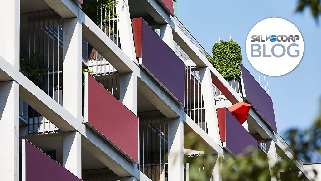 Using Compact Exterior for Eye-Catching Balconies