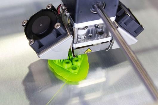 Das erste selbstmodellierte Modell wird gedruckt