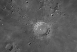 Copernicus has a diameter of 93 km and is 3.8 km deep.
