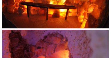 Salzgrotte und Solevernebelung-COLLAGE
