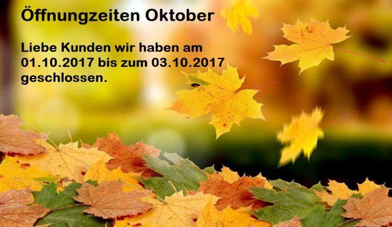 Archiv - Beitrag - Öffnungszeiten im Oktober