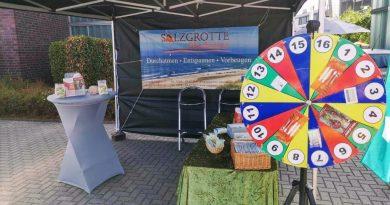Infostand der Salzgrotte Oberhausen - Hafenfest 2018 / Marina Oberhausen