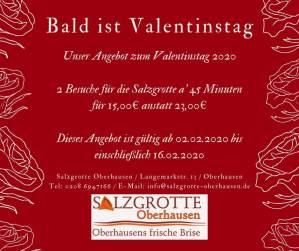Valentinstags Angebot der Salzgrotte Oberhausen