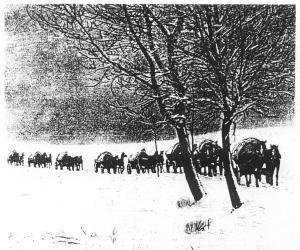 Winterlicher Salztransport durch die Lüneburger Heide