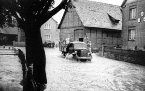 Hochwasser in Thüste