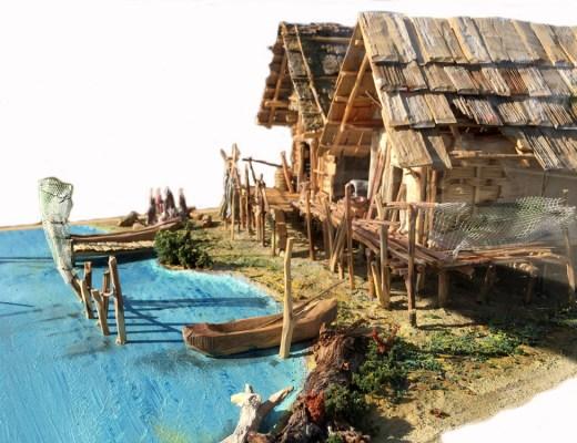 Pfahlbau Modell in Seewalchen