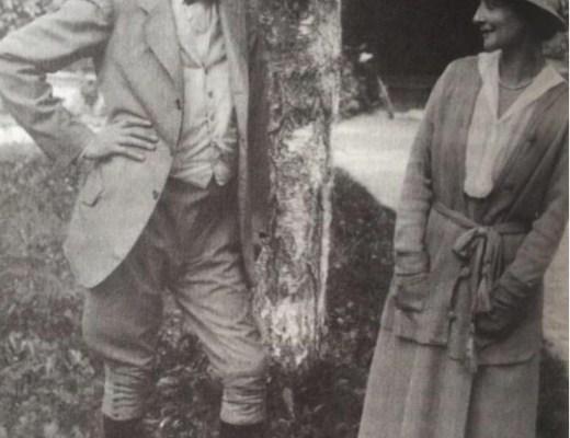 Richard Strauss und Irene Hellmann in Aussee