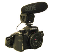 DSLR with Rode VideoMic Pro