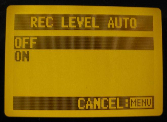 Zoom H4n AGC screen