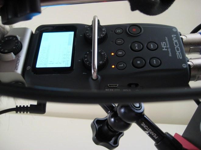 Zoom H4 DSLR rig
