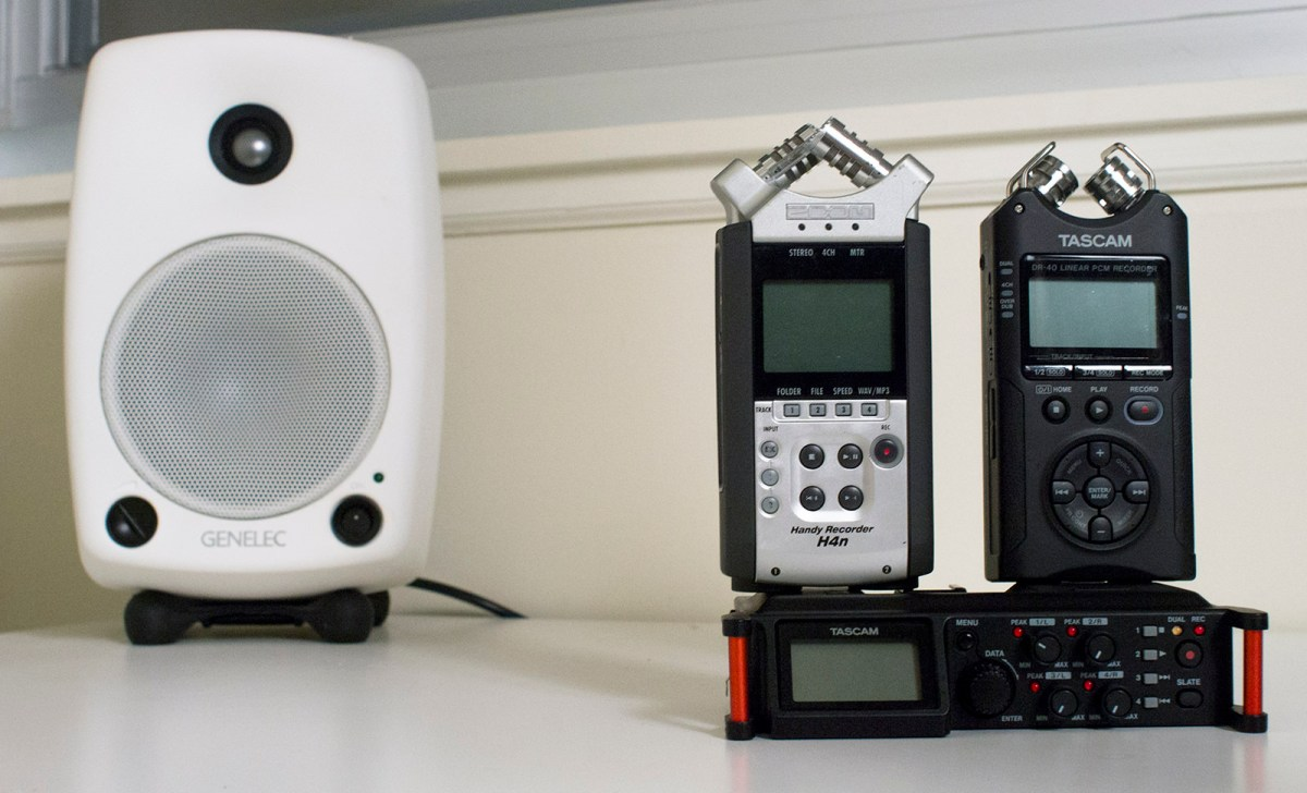 Audio Test: Tascam DR-70D vs  Zoom H4n vs  Tascam DR-40