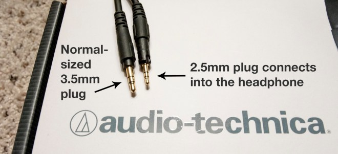 Connector jacks for ATH-M50x headphones