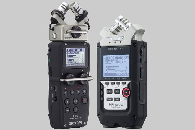 Zoom H5 and H4n Pro