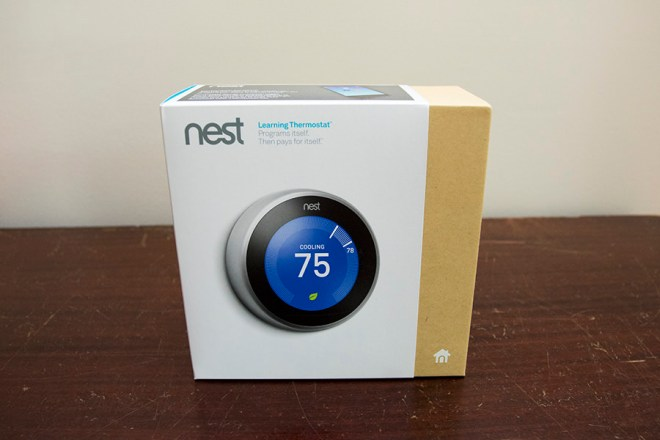 Nest Learning Thermostat 3rd Gen box
