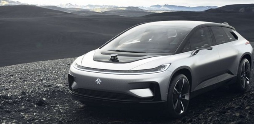 The Faraday Future FF 91 electric car