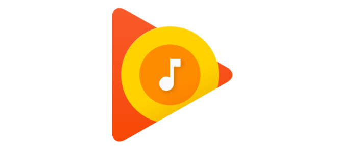 Google Play Music logo in early 2017