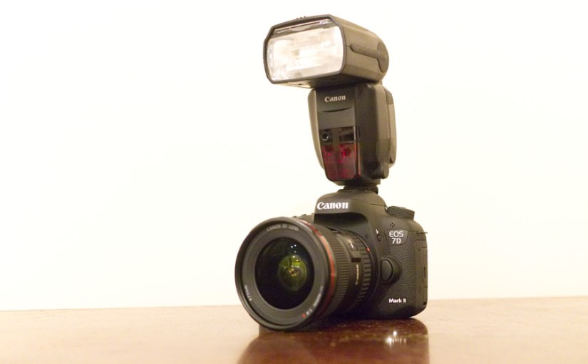 Canon 7D Mark II DSLR with 600EX-RT flash
