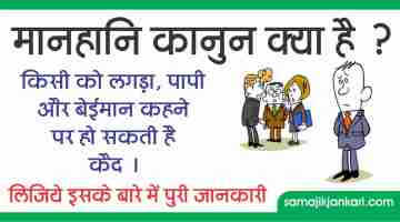 मानहानि कानून क्या है ? Ipc 499-500 Defamation Act In Hindi