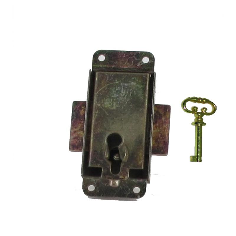 serrure de meuble a patte acier 15 30 mm avec cle ref 2805 lot de 4