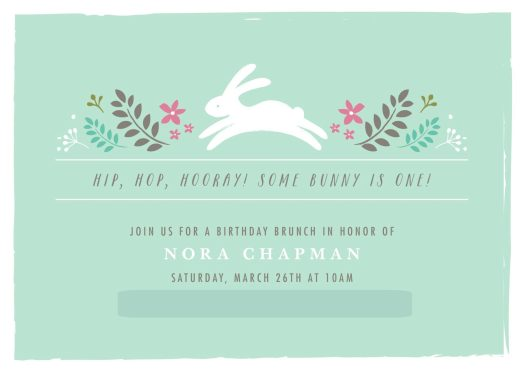 Nora's Bunny Brunch Invitation