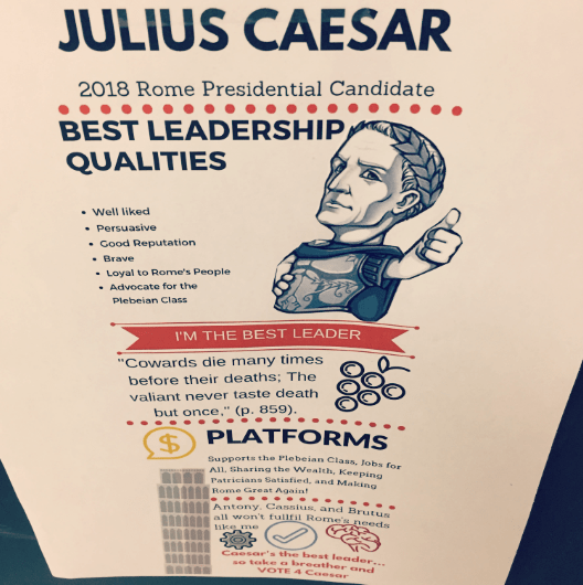 julius caesar creative activities