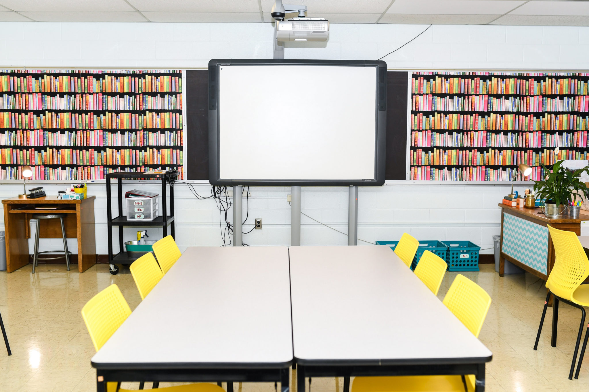 My Colorful And Comfortable High School English Classroom