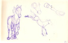 ballpoint pen sketches of horses