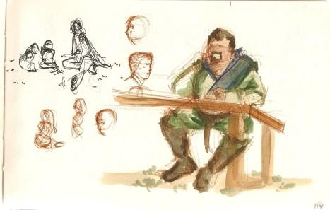 sketches from Renaissance Fair