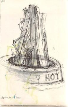 ballpoint fire pit sketch