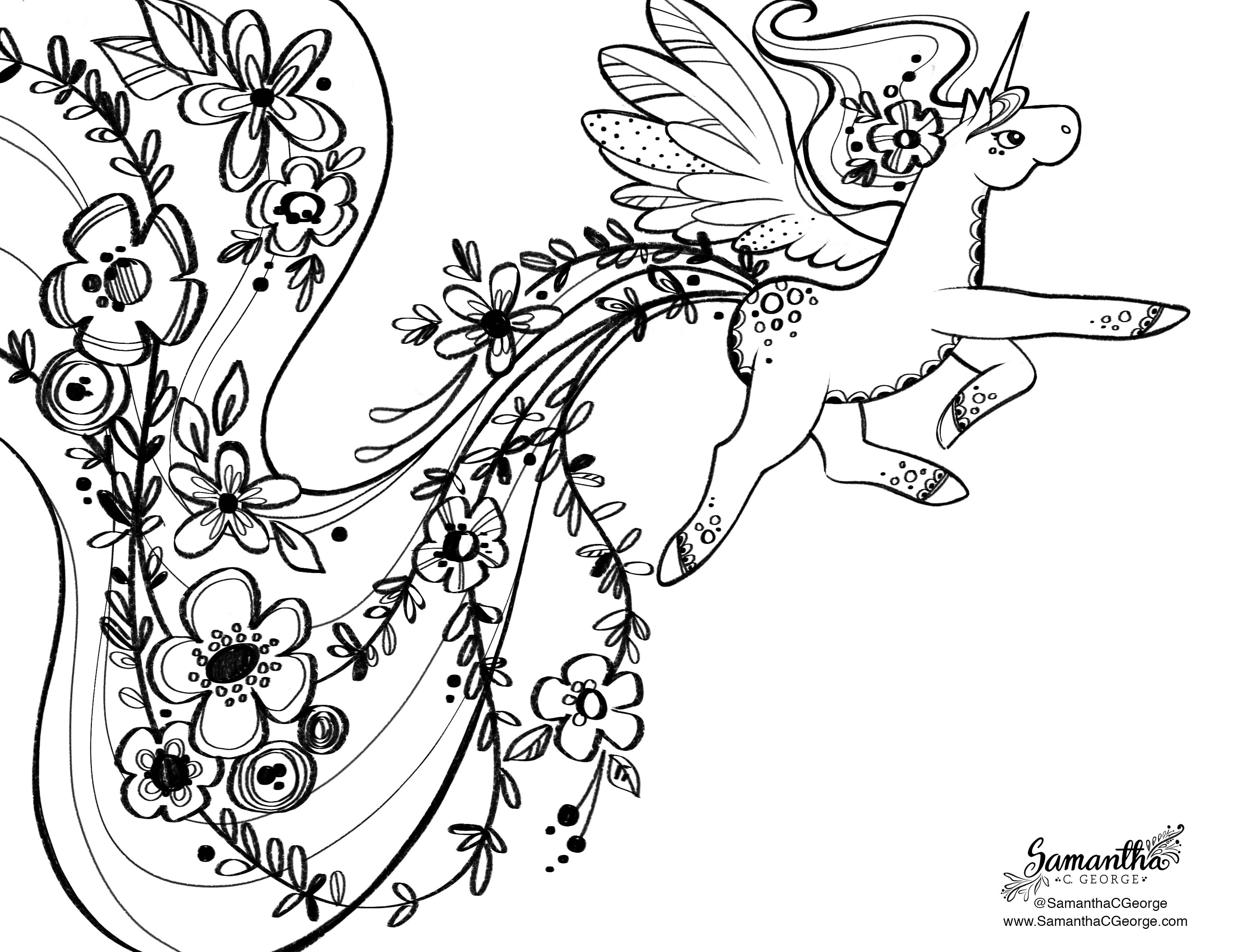 free coloring pages samantha george