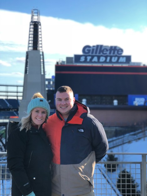 Five winter must-haves: Bundled up in front of Gillette Stadium