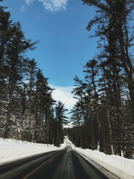 Not so typical college experience: Back road in New Hampshire