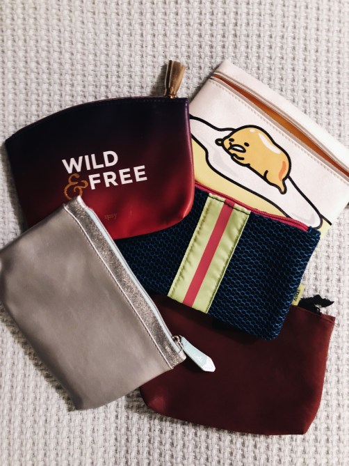 Bags from Ipsy subscription service