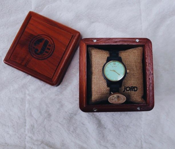 JORD wooden watch - Frank 35 Dark Sandalwood and Mint