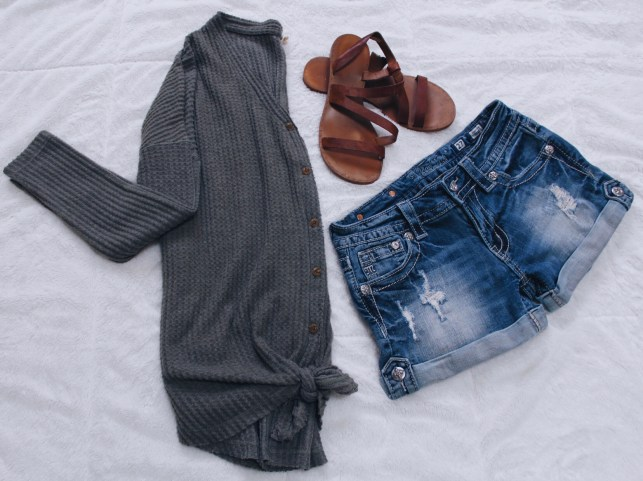 Indie Button Waffle Knit - Covington & Co.