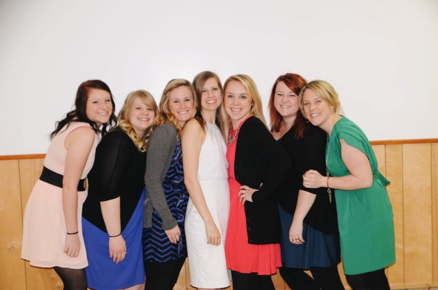 The girls all together in 2014 - Kelly, Shawna, Sam, Marlys, Jaclyn, Kelly and Lindsay