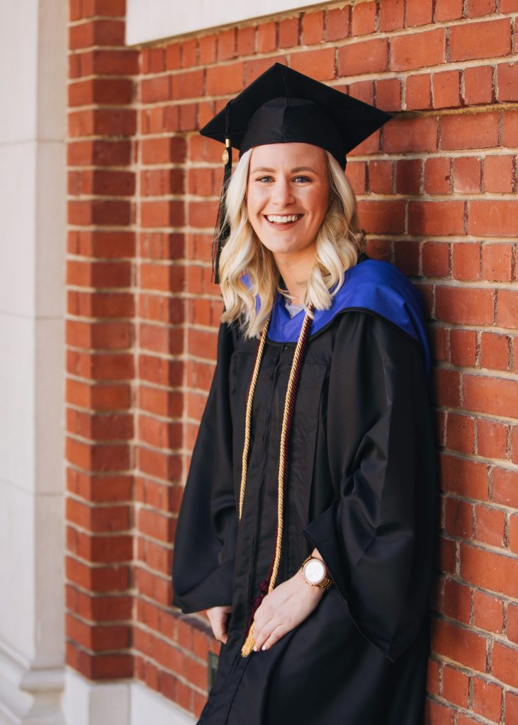 Samantha Marie Blog | Graduation portrait in cap and gown