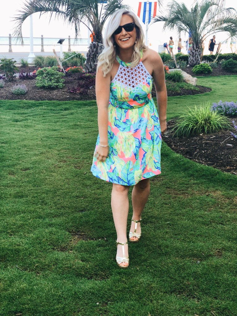 Samantha Marie Blog | Lilly Pulitzer Kinley Halter Dress