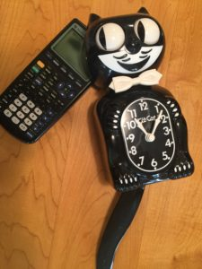 Cat clock and calculator