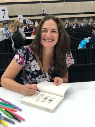 Samantha M Clark signing THE BOY, THE BOAT, AND THE BEAST at TLA 2018