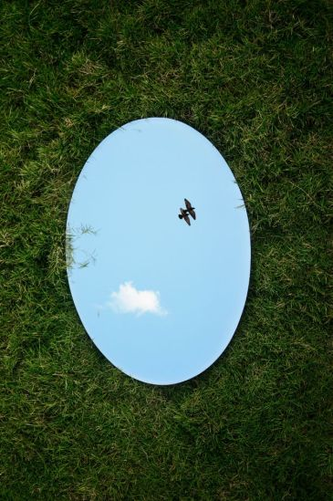 Mirror in grass, Photo credit: Jovis Aloor