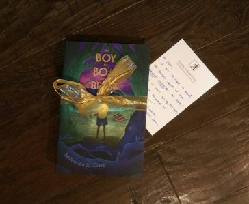 THE BOY, THE BOAT, AND THE BEAST second printing samples with a lovely note from my editor.