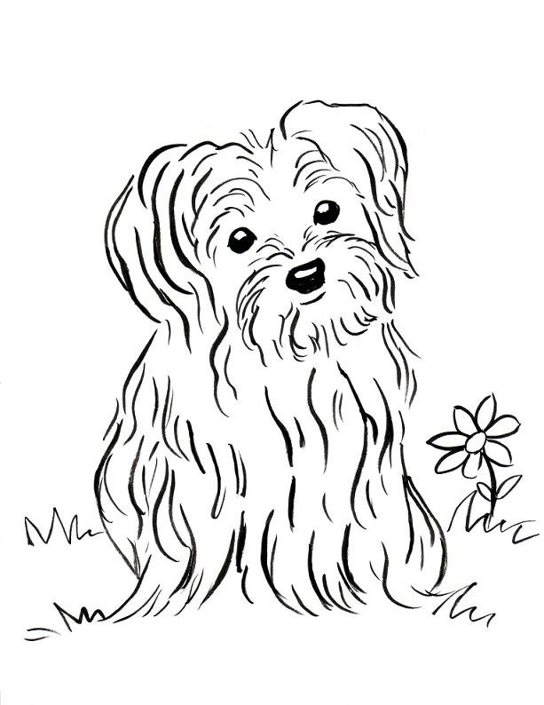 Puppy Coloring Page Art Starts