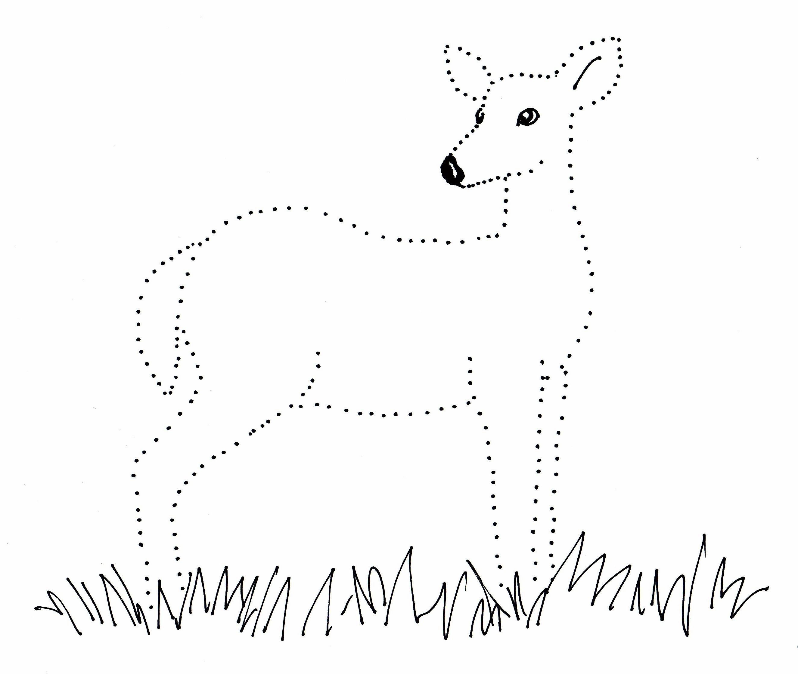 Deer Dot Drawing