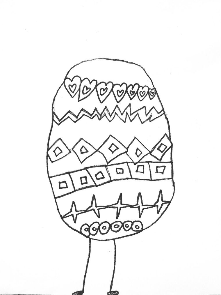 Easter Egg Coloring Page Art Starts