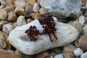 GWV Garnet and Gold FSU Stretch Bracelet and Ring (Doisy-M)