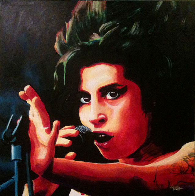 "Amy Winehouse 30""x30"""
